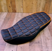 Honda Grom Grid Seat Cover MSX125 Orange Stitching