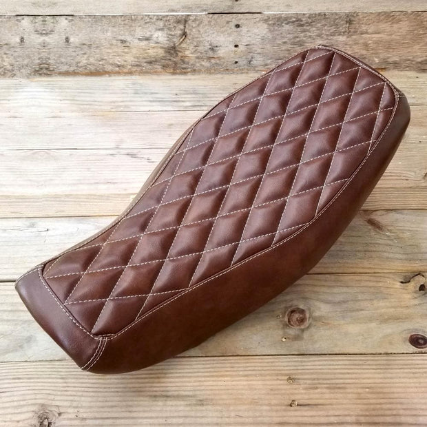 Honda Grom Diamond Seat Cover Brown by Cheeky Seats