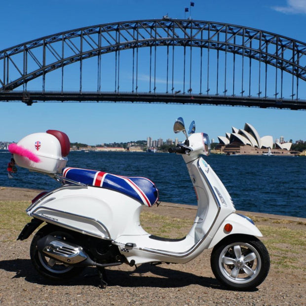 Union Jack Vespa Primavera Sprint Cheeky Seats