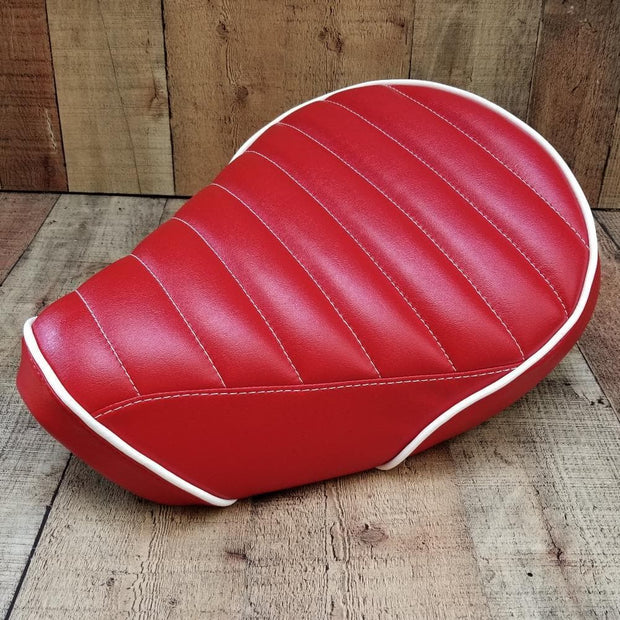 Honda Cub Seat Cover C125 Red Tuck and Roll
