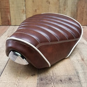 Honda Super Cub Padded Ribbed Seat Cover Brown Leather