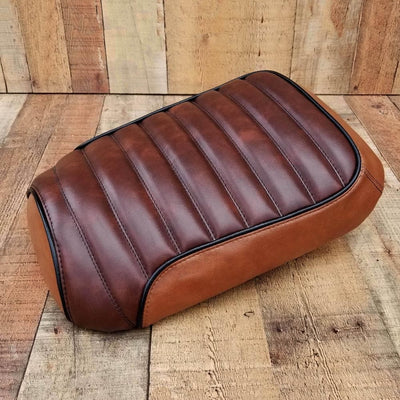 Honda Ruckus SEAT COVER Rustic Whiskey Brown Faux Leather by Cheeky Seats