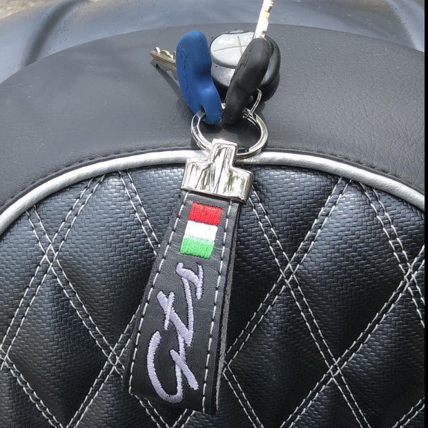 Vespa GTS Leather Key Ring by Cheeky Seats