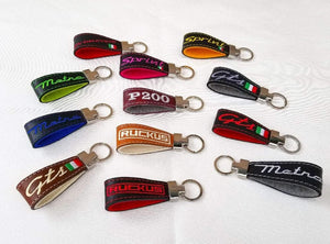 Vespa Sprint Primavera Scooter Gifts Key Ring Full Grain Leather and Merino Wool Handmade Keychain