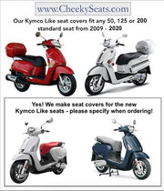 Kymco Like 50 - 200i Seat Cover Black with Red Piping