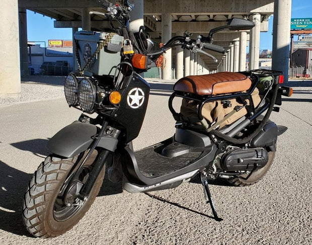 Honda Ruckus padded brown seat cover