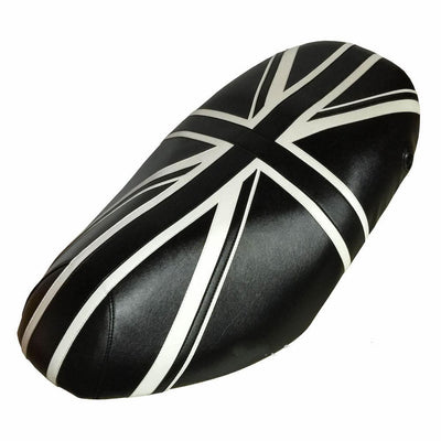 Piaggio Fly Seat Cover 50-150 Union Jack Black and White