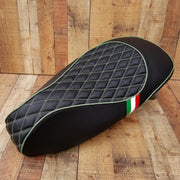 Vespa Euro Gel Diamond Seat Cover with Italian Stripes