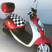 Sym Mio Checkers Seat Cover Cheeky Seats