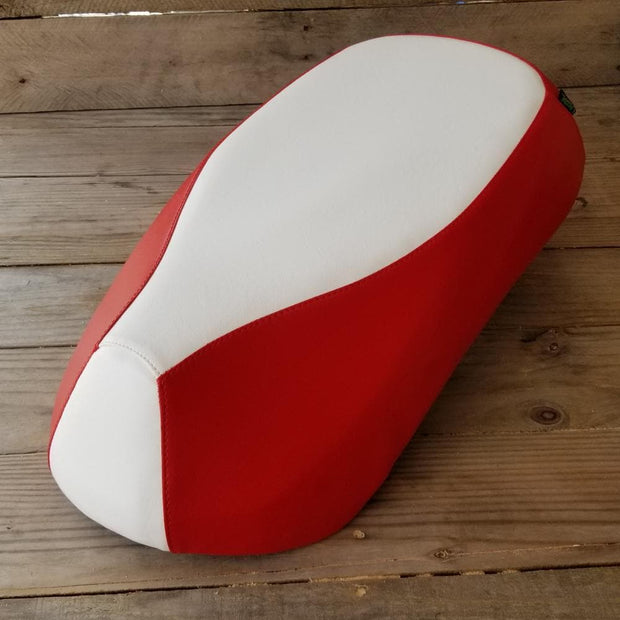 Sym Mio Red and White Seat Cover