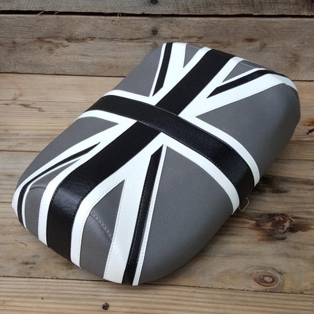 Honda Ruckus Zoomer Seat Cover Black and Gray Union Jack