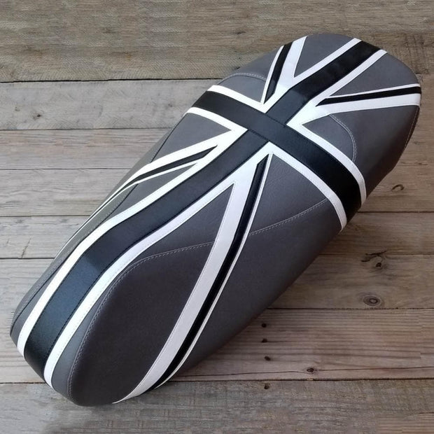 Vespa GTS Black and Gray Union Jack Seat Cover