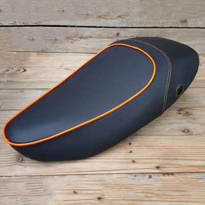 Vespa S 50 125 150 Seat Cover with Piping - Choose your own color