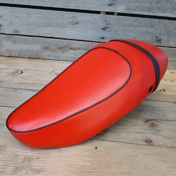 Vespa S 50 125 150 RED Seat Cover French Seams