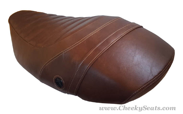Vespa S 50 125 150 Seat Cover Padded Whiskey Brown