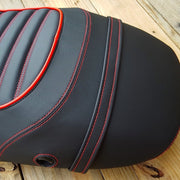 Vespa S 50 125 150 Black Padded Tuck and Roll Seat Cover