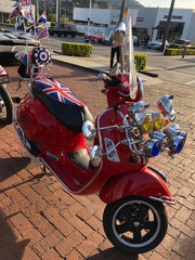 Vespa GTS Union Jack British Flag Seat Cover