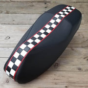 Vespa GTS Checkered Racing Stripe Seat Cover
