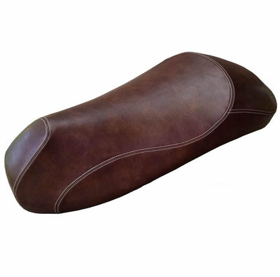 Vespa GTV GTS Seat Cover Whiskey Brown French Seams
