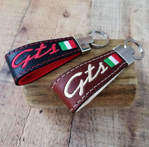 Vespa GTS Leather Handmade Key Ring Scooter Gifts