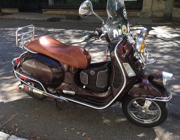 Vespa GTV Chestnut Brown Eurogel Saddle Seat Cover