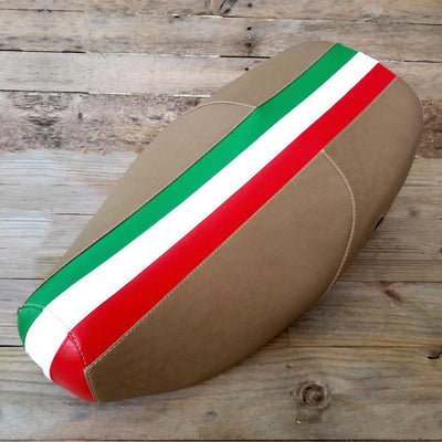 Vespa LX Italian Stripe Seat Cover Handmade by Cheeky Seats