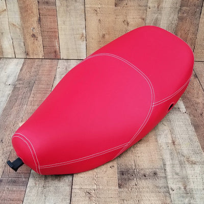 Vespa LX Seat Cover Matte RED by Cheeky Seats