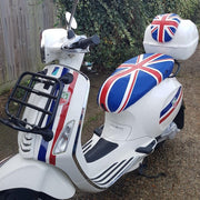 Vespa Primavera British Flag Union Jack Cheeky Seats