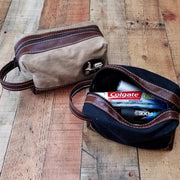 Scooter Gifts Dopp Travel Bag Waxed Canvas Lambretta Vespa