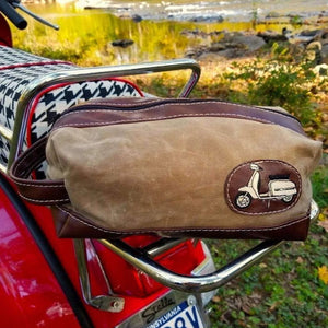 Weekender Waxed Canvas Scooter Rally Travel Bag Lambretta Vespa - Scooter Gifts