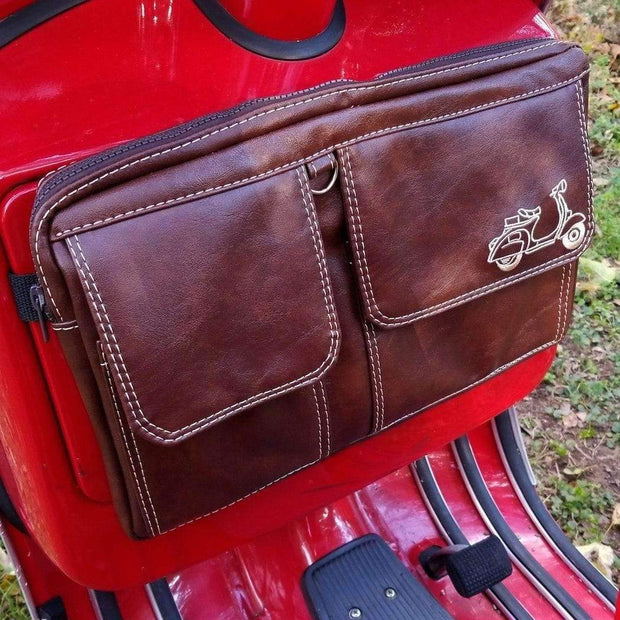 Scooter Gifts Glove Box Bag in Whiskey Brown Vespa Accessories
