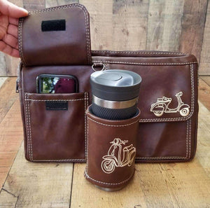 Vespa Scooter Glove Box Bag in Whiskey Brown Scooter Gifts
