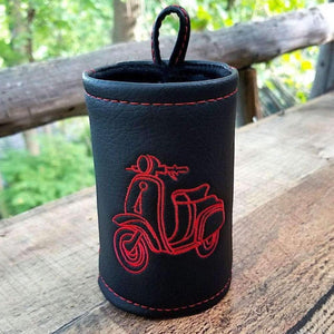 Handmade Black Scooter Beverage Coozie  Scooter Gifts