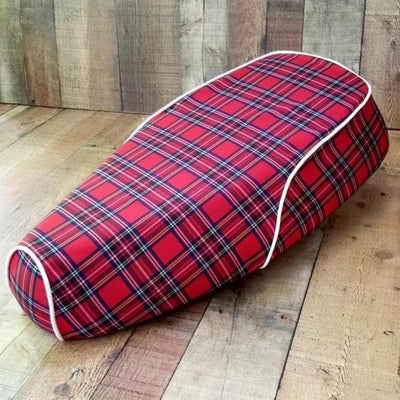 Genuine Buddy Kick Red Tartan Plaid Seat Cover