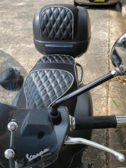Vespa GTS 250 300 Black Diamond Seat Cover