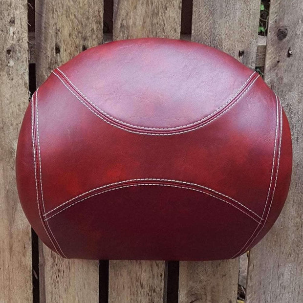 Vespa GT Backrest Cover oxblood French Seams