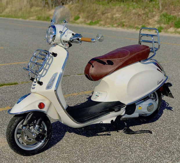 Vespa Sprint / Primavera Distressed Whiskey Seat Cover