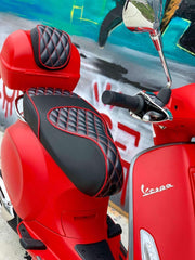 Vespa Sprint / Primavera 50 - 150 Diamond Carbon Fiber Seat Cover