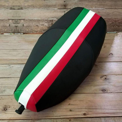 Vespa LX Saddle Seat Cover Italian Stripe by Cheeky Seats
