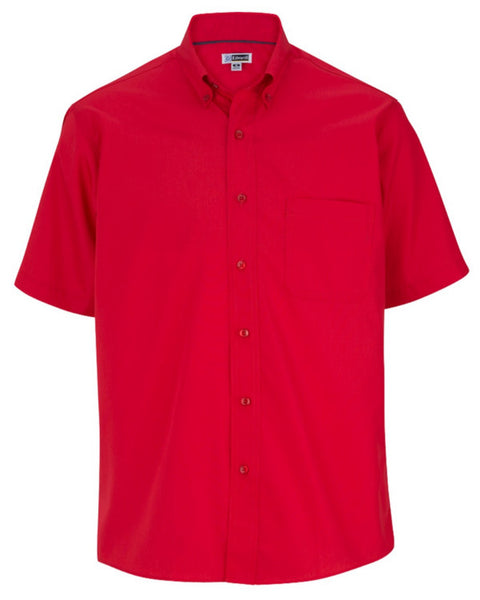 men's Wrinkle Resistant Shirt, men's Casual Poplin Short Sleeve shirt
