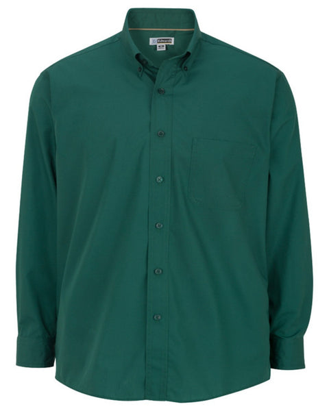 hunter green men's shirt, resort staff shirt, camp staff shirt, restaurant server shirt
