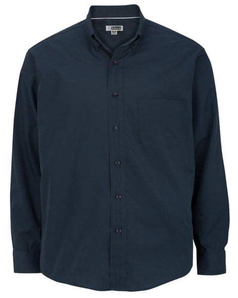 navy men's long sleeve shirt, men's poplin shirt, hotel staff shirts