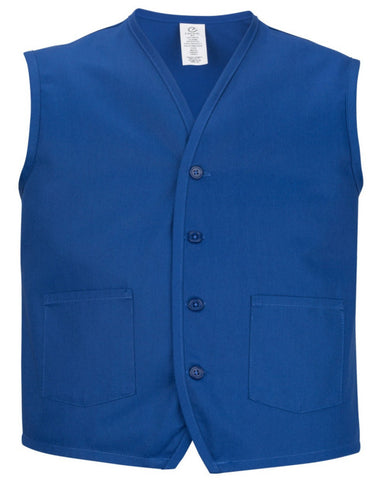 two pockets apron vest, blue apron vest, blue vest