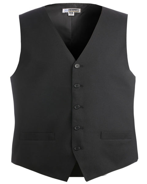 Men's Two Pockets V-neck Server Vests, Men's server vest, server vest