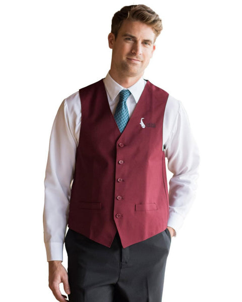 Men's Two Pockets V-neck Server Vests