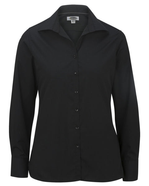 black casual server shirt, ladies casual shirt, hotel server blouse