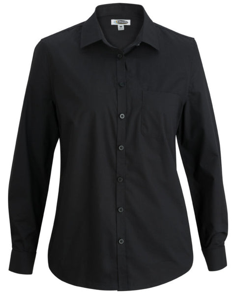 black poplin shirt, women poplin shirt