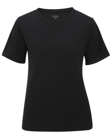 lightweight crew neck tee, black server t-shirt, black crew neck tee