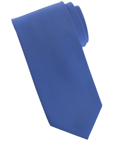 Solid color tie, daily tie, server tie, french blue tie