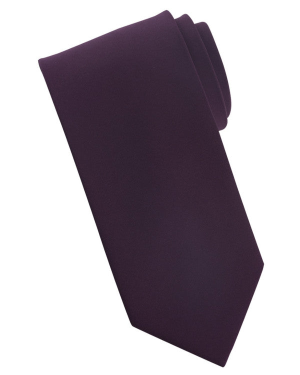 Plum color tie, tie, server tie, worker tie, solid color tie, daily server tie